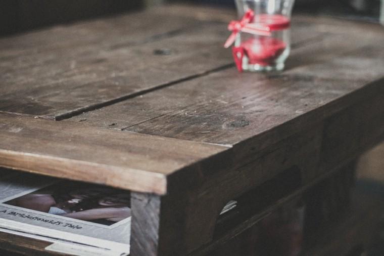 diseño mesa pallet madera cajones