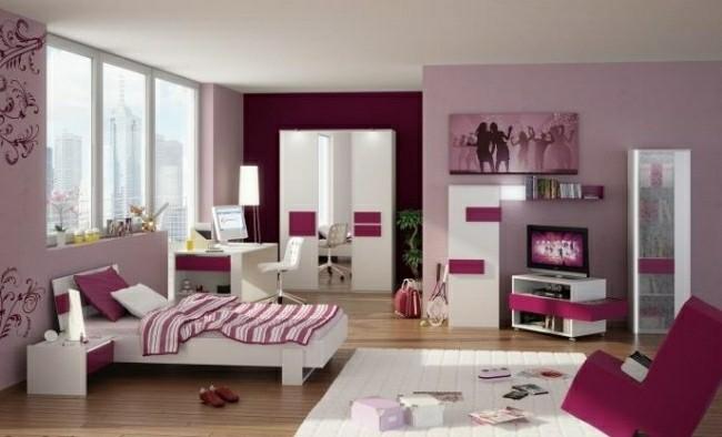 diseño color rosa magenta cuarto