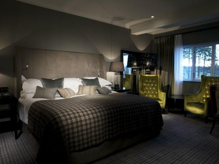 diseño dormitorio tonos marrones
