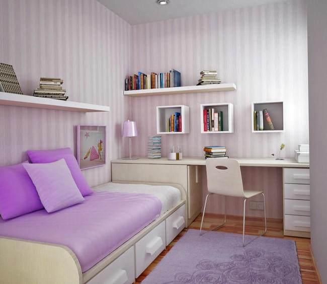 diseño cuarto juvenil color lila
