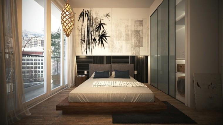 diseño deco colores neutros cama