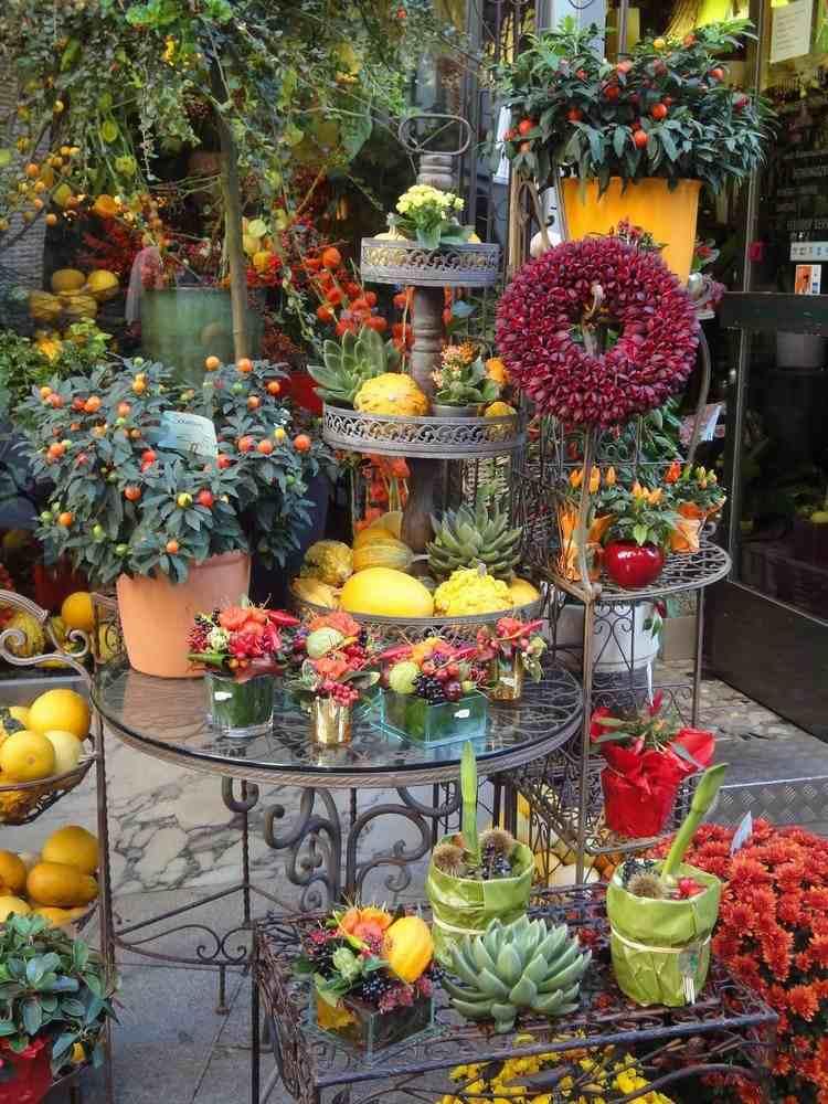 diseño decoracion  balcon otoño