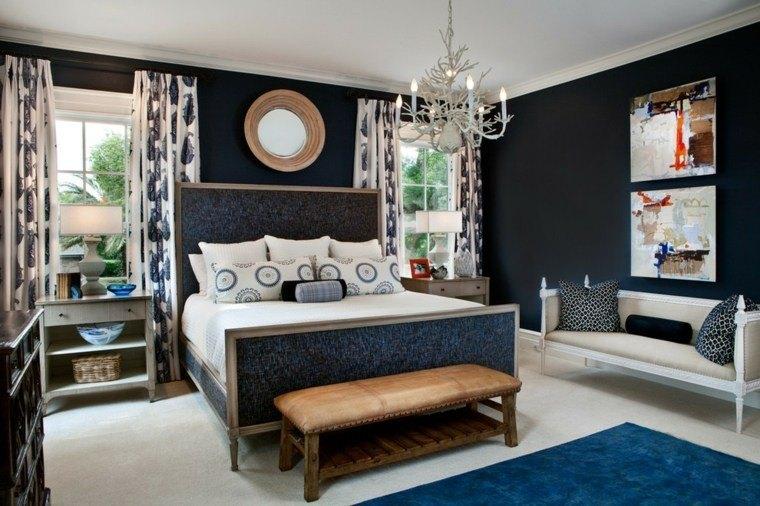 diseño dormitorio juvenil pared negra