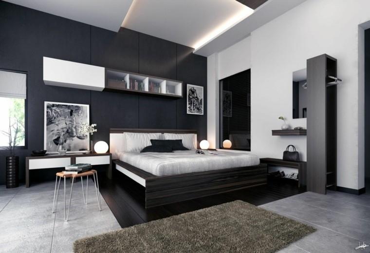 Dormitorios de matrimonio de colores oscuros 50 ideas for Dormitorio matrimonio negro