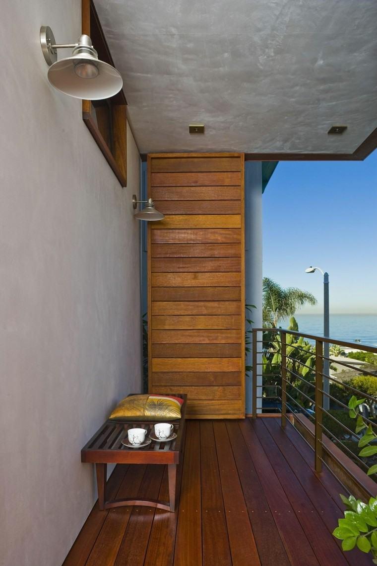 diseo terraza moderna pequea madera