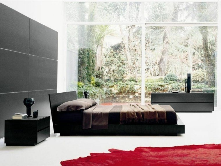 diseño dormitorio moderno vistas jardin