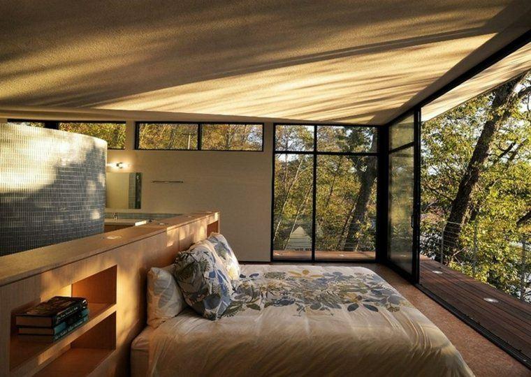 diseños habitaciones modernas vistas jardin