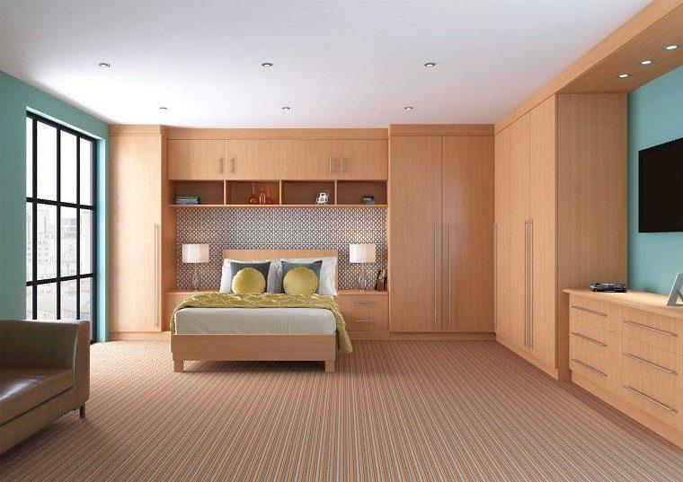 diseños habitaciones modernas todo madera