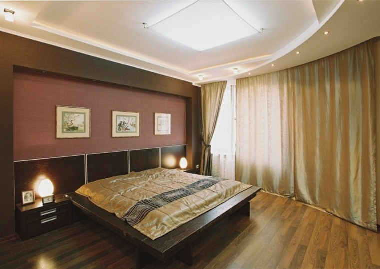 dormitorio lujoso con techo moderno