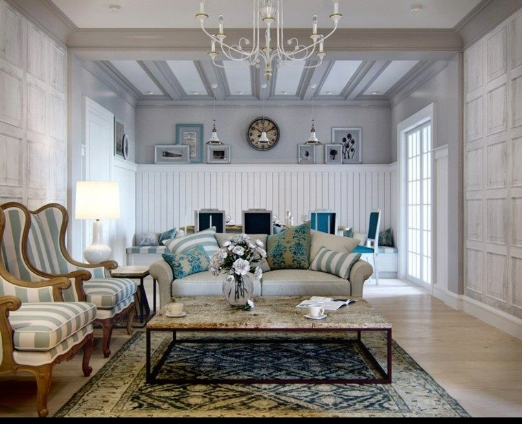 diseno estilo rustico apartamento mesa marmol lujosa ideas