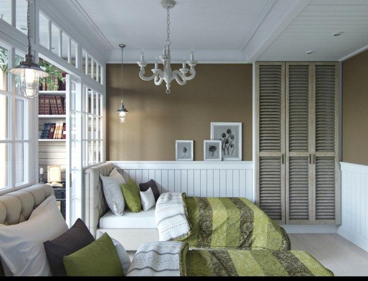 diseno estilo rustico armario empotrado pared puertas madera ideas