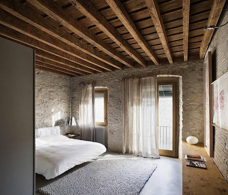 Decoracion rustica 50 ideas para interiores impresionantes - Cortinas interiores casa ...