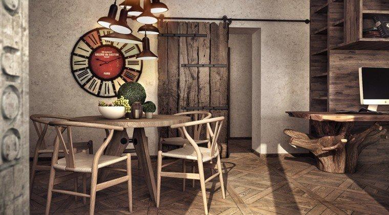 diseno estilo rustico escritorio madera natural comedor ideas