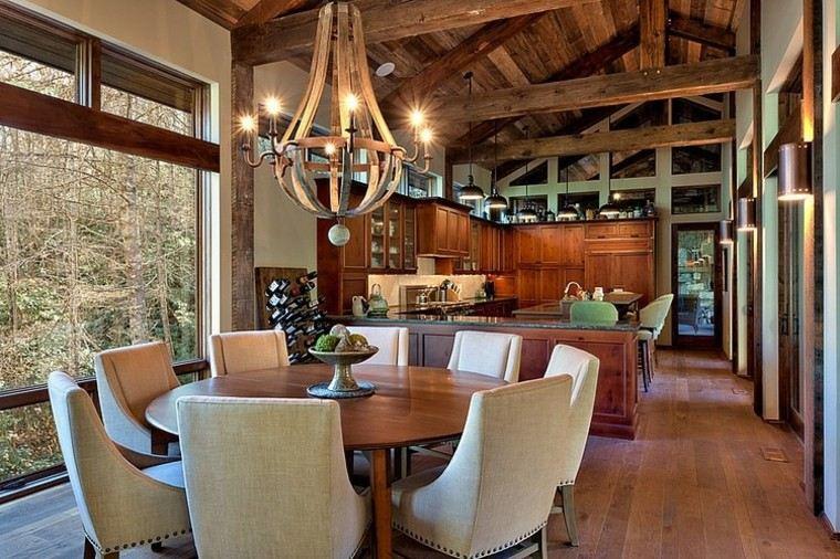 Decoracion rustica 50 ideas para interiores impresionantes - Como decorar un comedor rustico ...