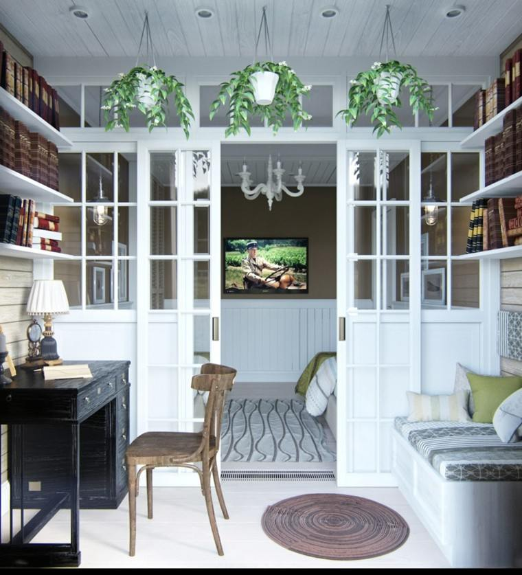 Decoracion rustica 50 ideas para interiores impresionantes for Escritorios rusticos para oficina