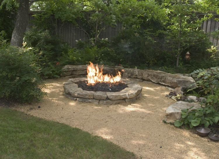diy rocks patio design trail
