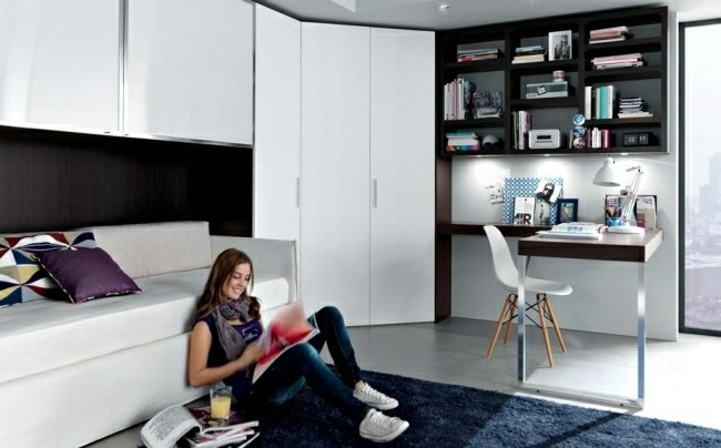 dormitorio chica joven moderna