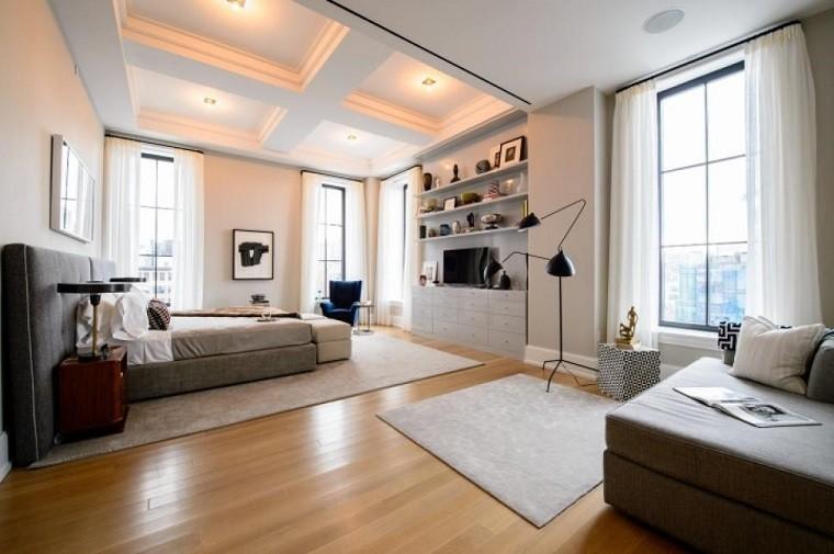dormitorio moderno espacioso iluminado moderno