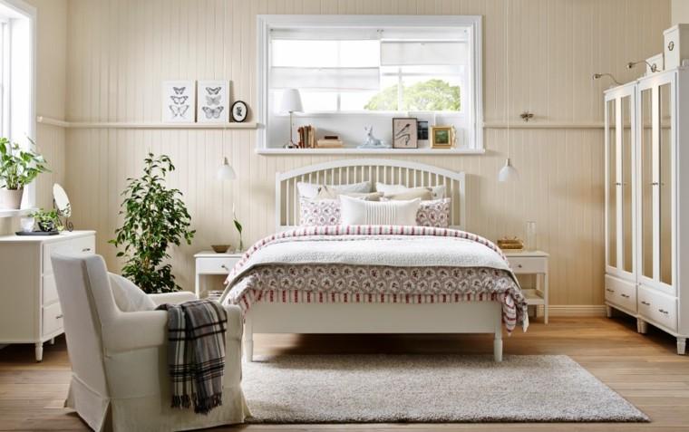 dormitorio ikea diseño color beige