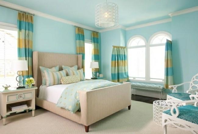 dormitorio juvenil color turquesa