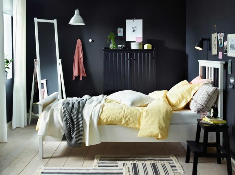 dormitorio juvenil color azul añil