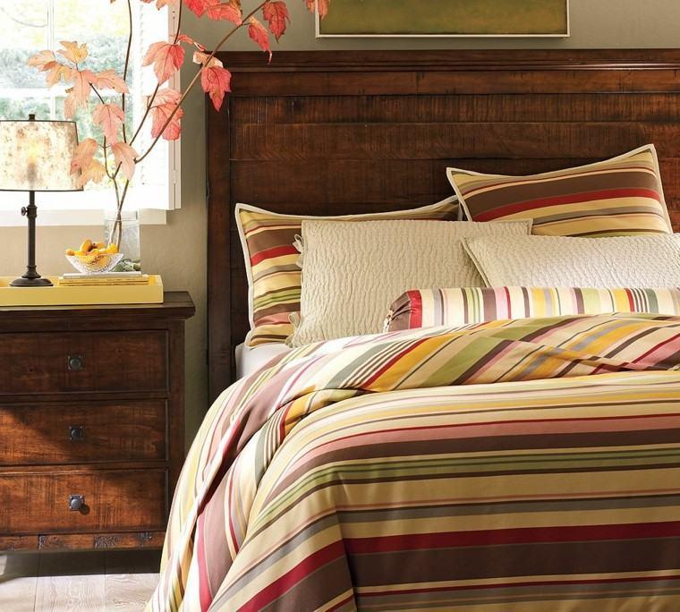 dormitorio mesita noche hojas secas arbol decorativas ideas