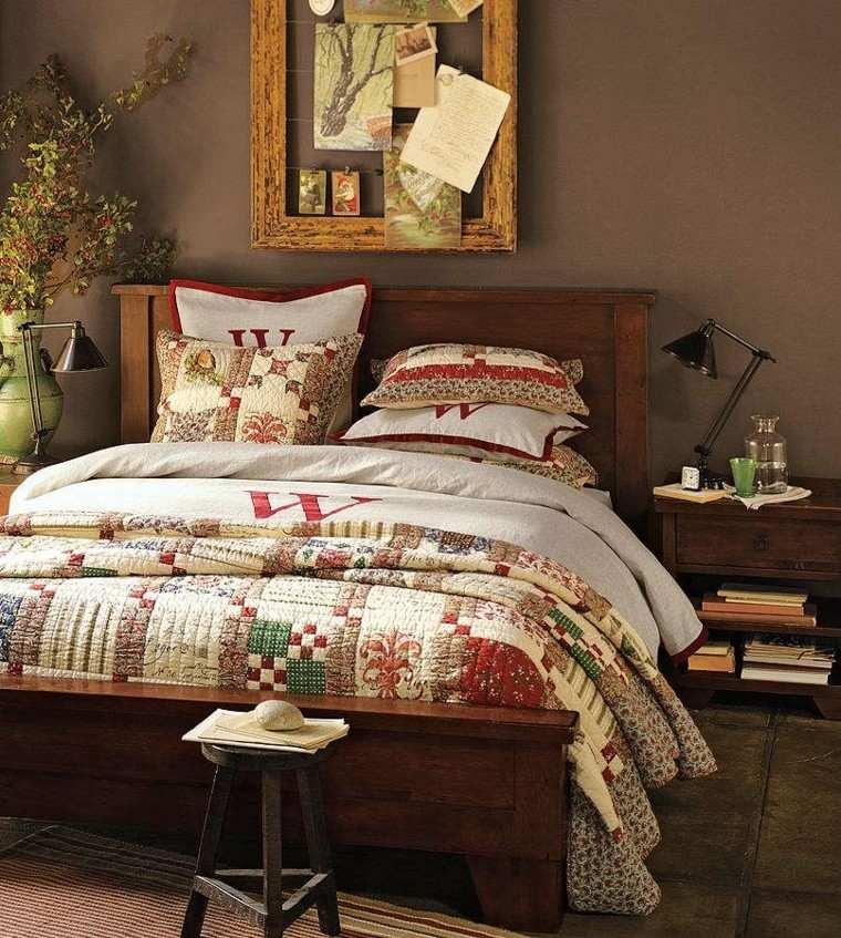dormitorio vintage hojas secas arbol decorativas ideas