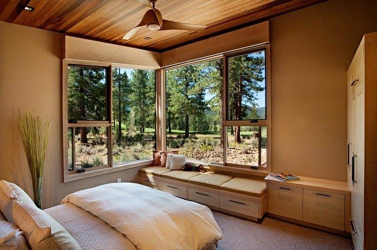 dormitorio moderno vistas asiento ventana