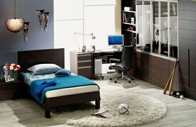 dormitorio chico joven color azul