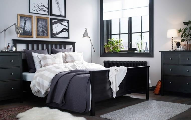 dormitorio ikea color gris oscuro