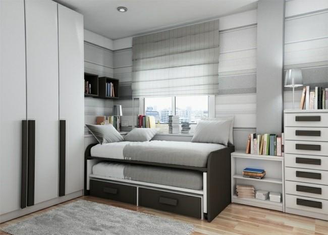 dormitorio joven color gris