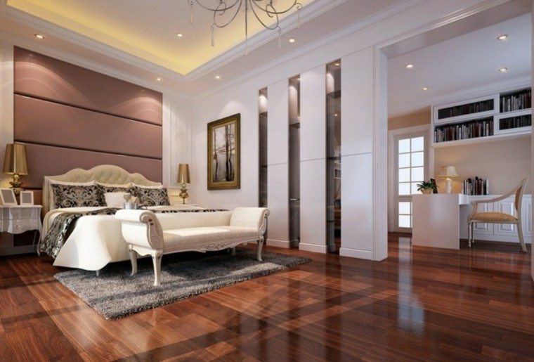 dormitorio estilo lujoso techo luz Led
