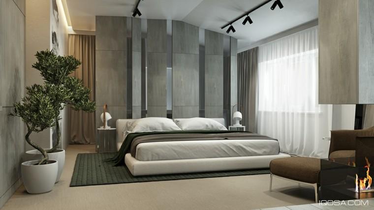 dormitorio vista cama frente pared