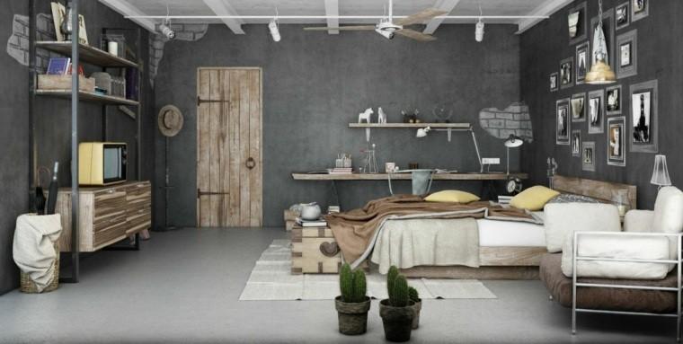 dormitorios de matrimonio color gris