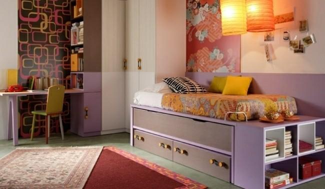 dormitorios juveniles chica colores rosa