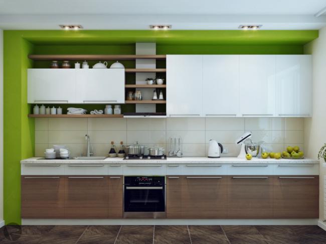diseño cocinas modernas verde
