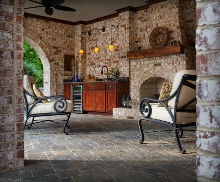 el refugio perfecto verano cocina exterior armarios madera ideas
