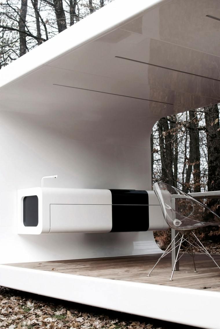 el refugio perfecto verano cocina exterior blanca negro ideas