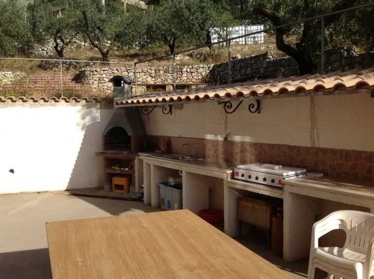 el refugio perfecto verano cocina exterior estilo rustico ideas
