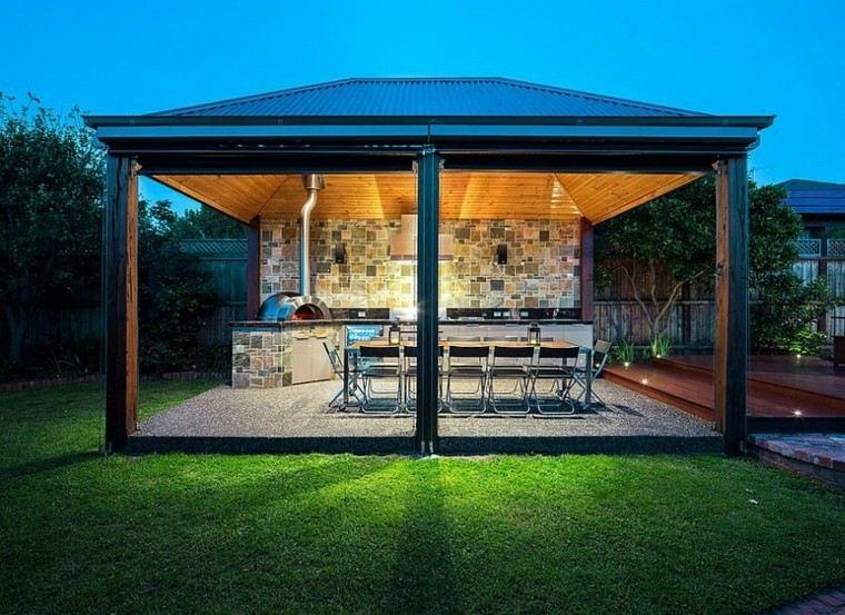 el refugio perfecto verano cocina exterior exclusiva amplia ideas