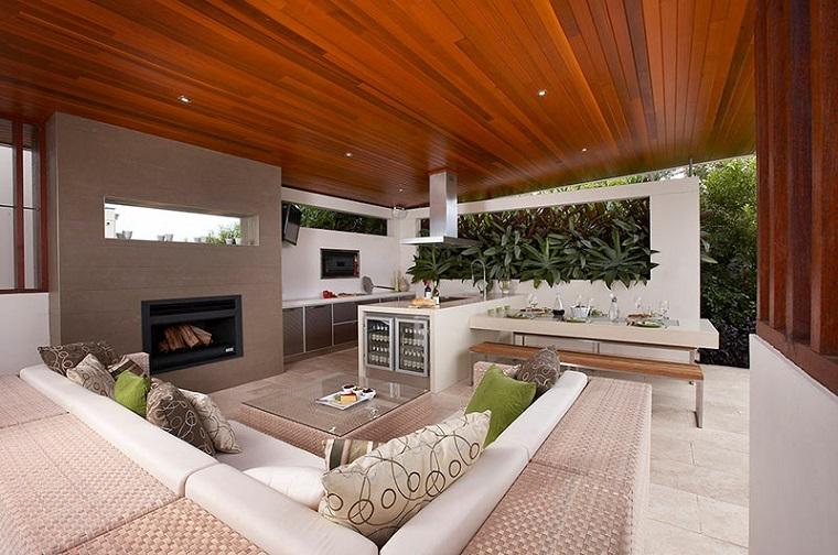el refugio perfecto verano cocina exterior muebles jardin ideas