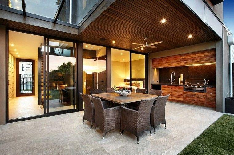 el refugio perfecto verano cocina exterior muebles madera ideas