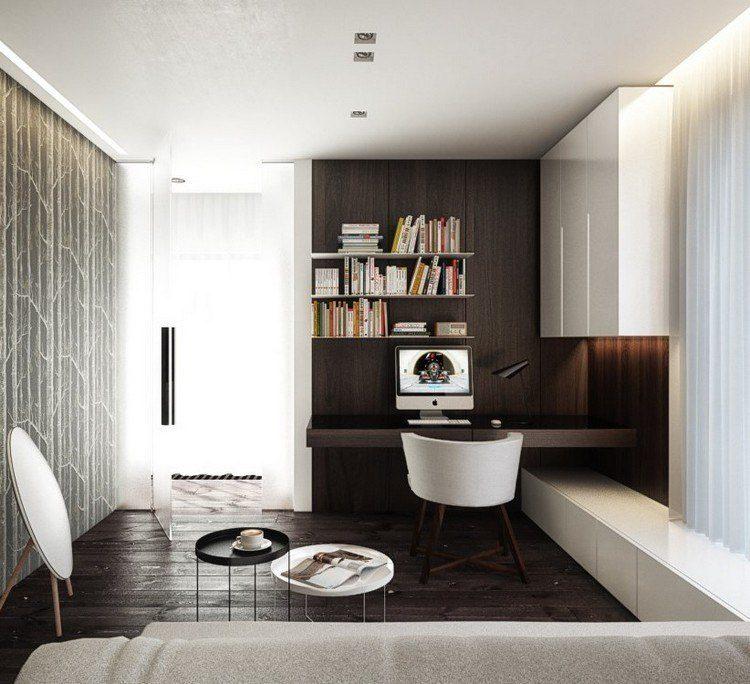 elegante marrones criterio decorativo sillones