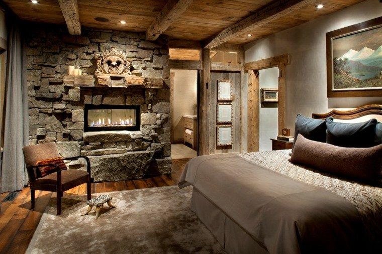 elegante salon atractivo cama cortinas