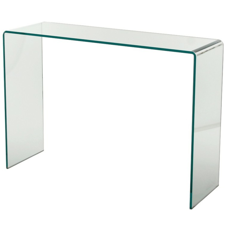 elegante vidrio clase transparente curvada