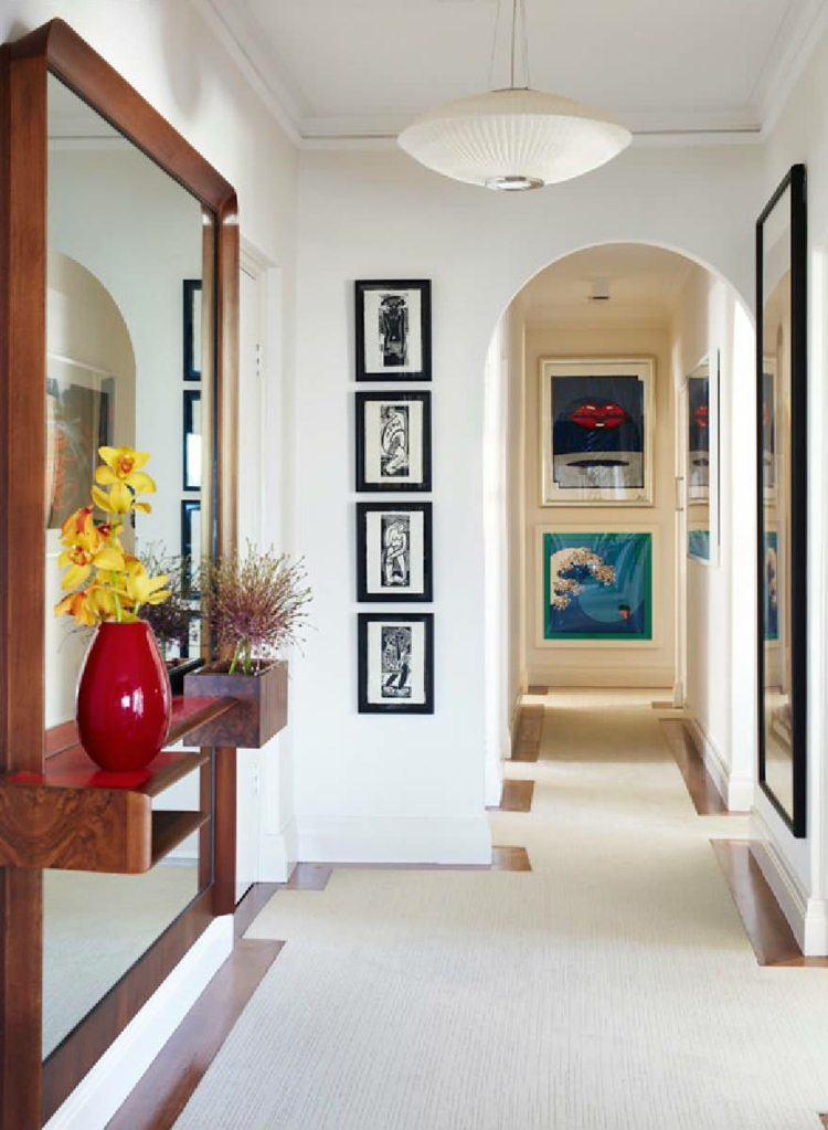 Entradas y recibidores con encanto 50 ideas para decorar for Espejo grande recibidor