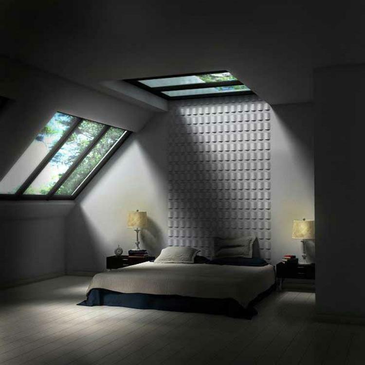 entrada luces idea hormigon lamparas