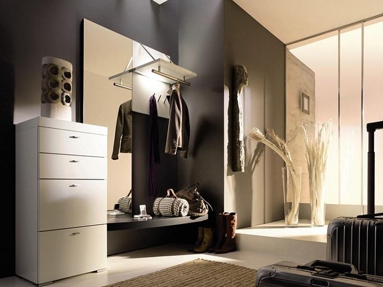 entrada mueble comoda blanca moderna