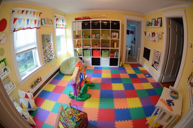 Entretenimiento para los ni os ideas para juegos en casa - Suelo para ninos ...