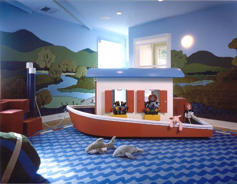 Entretenimiento para los ni os ideas para juegos en casa - Suelo habitacion ninos ...